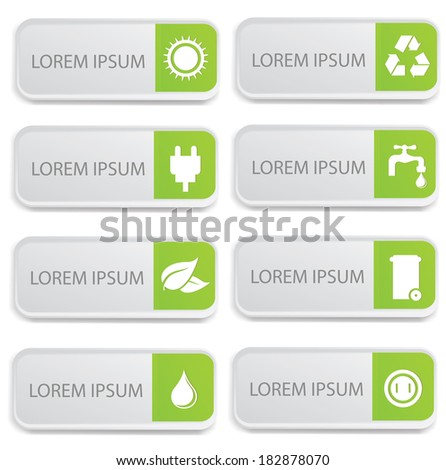 Ecology banners on  white background,vector