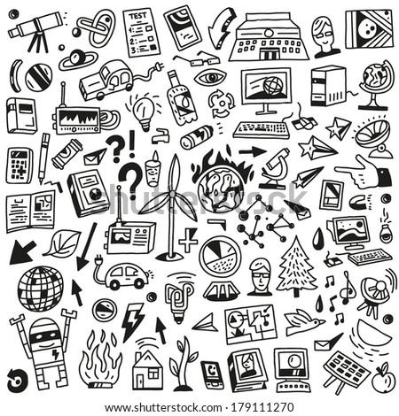 Ecology - big doodles set