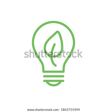 ecology bulb lamp with leaf