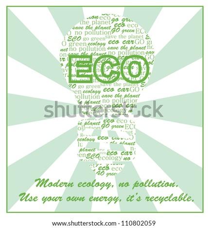ecology card design. vector illustration