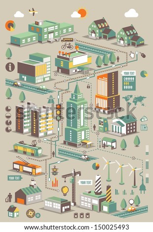 ecology city info graphic