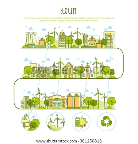 vector images illustrations and cliparts ecology city infographic