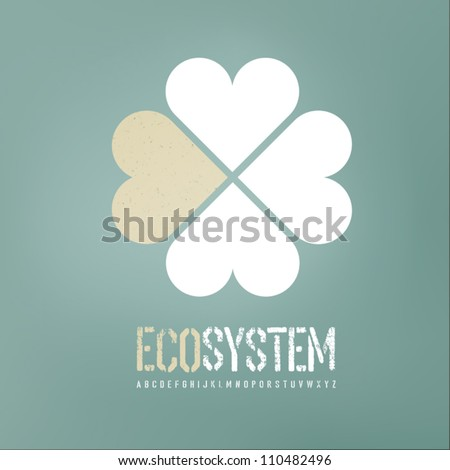 Ecology concept background. Vector, EPS10