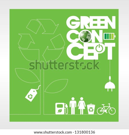 Ecology concept background vector.EPS10