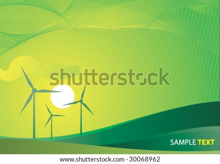 ecology concept clean vector background