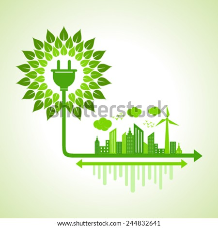 ecology concept   eco cityscape