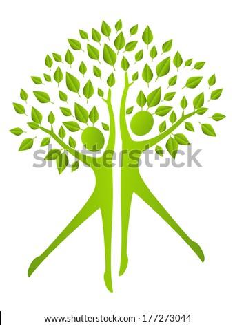 ecology concept   human figures