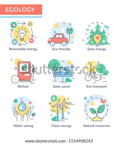Ecology concept icons