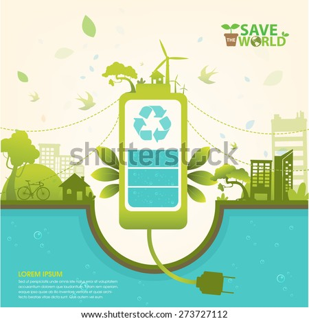 ecology concept save world...