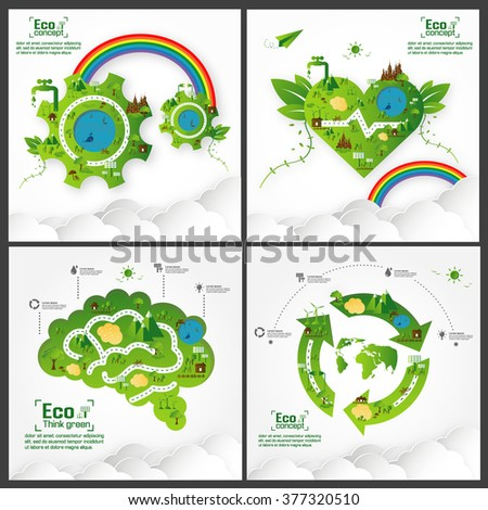 ecology concept save world