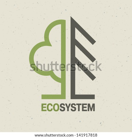 ecology emblem concept  vector