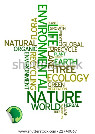 Ecology - environmental poster made from words