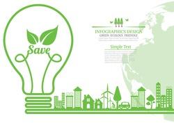 Ecology  environmentally friendly concept.