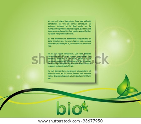 ecology green background card