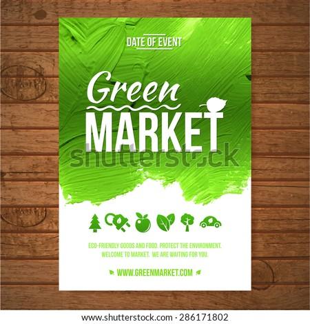 ecology green market invitation