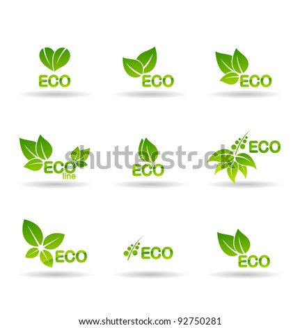 ecology icon set eco icons