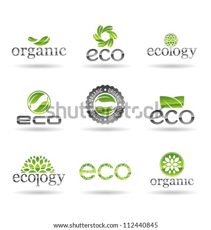 Ecology icon set. Eco-icons. Vol 5.
