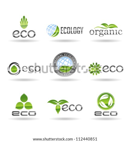 Ecology icon set. Eco-icons. Vol 7.