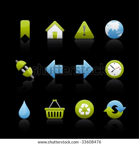 Ecology Icon Set for multiple applications