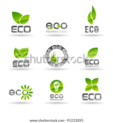 Ecology icon set (number 2). Eco-icons.