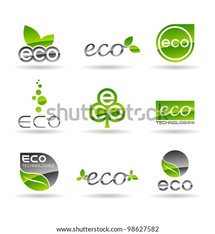 Ecology icon set (number 4). Eco-icons.
