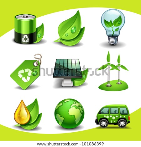 Ecology icons stock vector 101086399 shutterstock