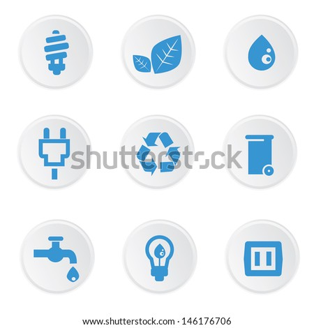 Ecology icons,on white background,vector