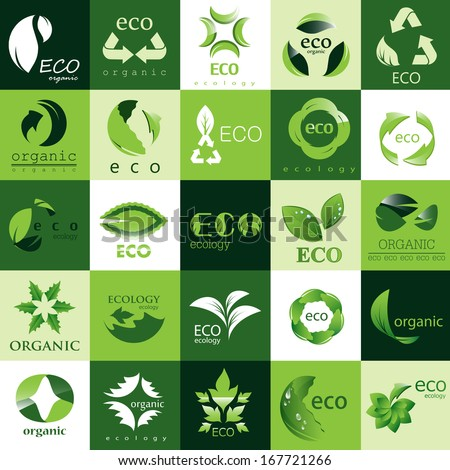 Ecology Icons Set - Isolated On Background - Vector illustration, Graphic Design, Editable For Your Design.