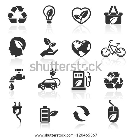 Ecology icons set1. vector illustration. More icons in my portfolio.