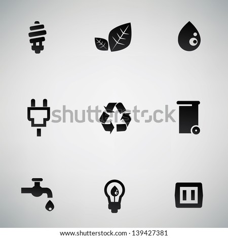 Ecology icons,vector