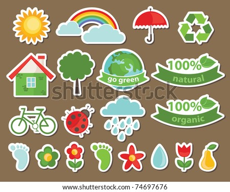 ecology icons. vector illustration
