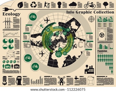 ecology info graphic,vector elements