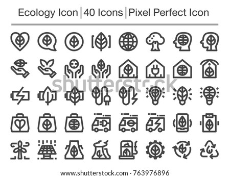 ecology line icon,editable stroke,pixel perfect icon
