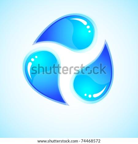 ecology logo   three blue drops