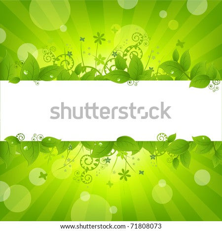 Ecology Nature Background, Vector Illustration - stock vector