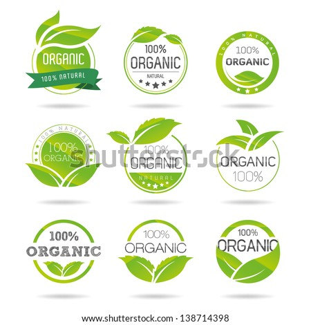 Shutterstock Ecology, organic icon set. Eco-icons