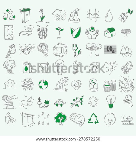 ecology organic signs eco and