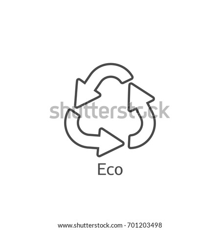 ecology recycling vector symbol
