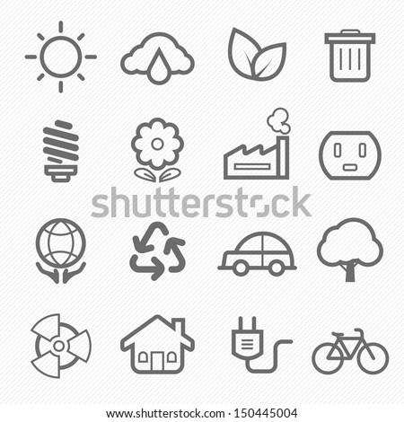 ecology symbol line icon on