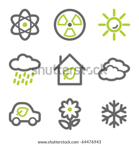 ecology web icons set 2  green