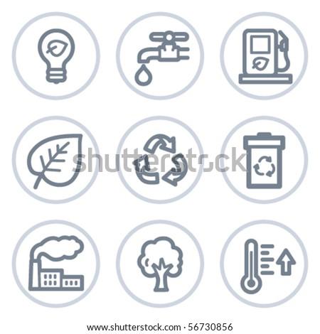 ecology web icons set 1  white