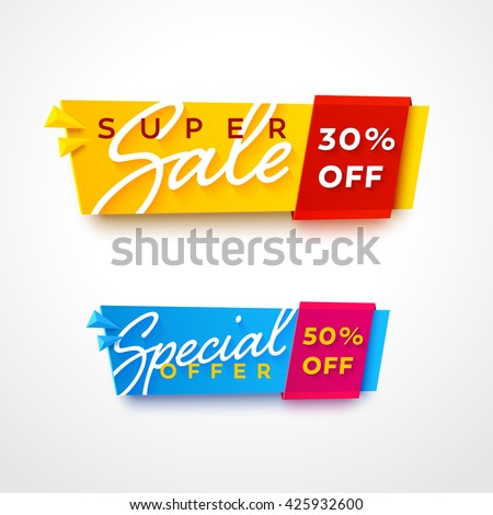 ecommerce bright vector banner