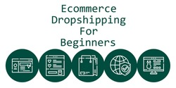 ecommerce dropshipping for beginners background concept with ecommerce dropshipping for beginners icons. Icons related shopping bag, website, wishlist, internet