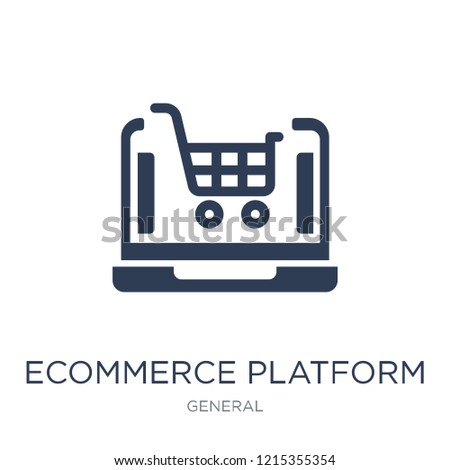ecommerce platform icon. Trendy flat vector ecommerce platform icon on white background from general collection, vector illustration can be use for web and mobile, eps10