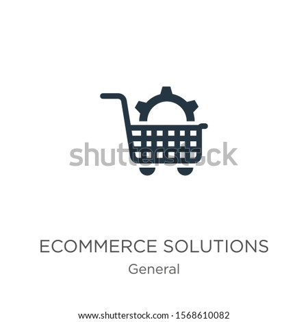 Ecommerce solutions icon vector. Trendy flat ecommerce solutions icon from general collection isolated on white background. Vector illustration can be used for web and mobile graphic design, logo,