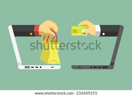 Ecommerce vector flat illustration