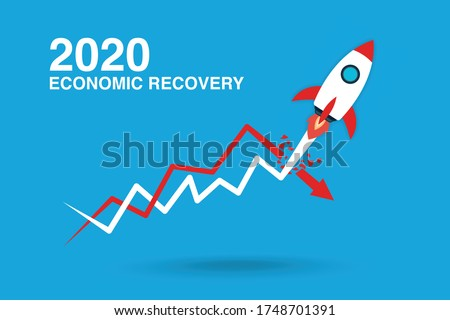 Economic and finical recovery concept. Foto stock ©