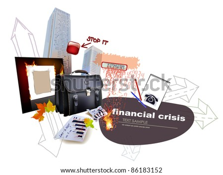 Economic crisis concept illustration