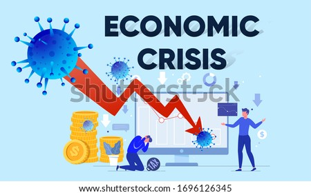 Economic crisis or global recession impact of corona virus covid-19 Stock photo ©