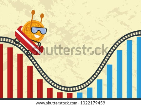 Economic cycle or changes in stock markets looks like a rollercoaster - after top of the loop you are going down and after that again going up